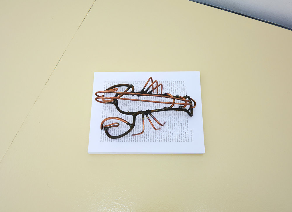 Lin May Saeed, Lobster, 2017. Metal, 11 x 24 x 14,5 cm