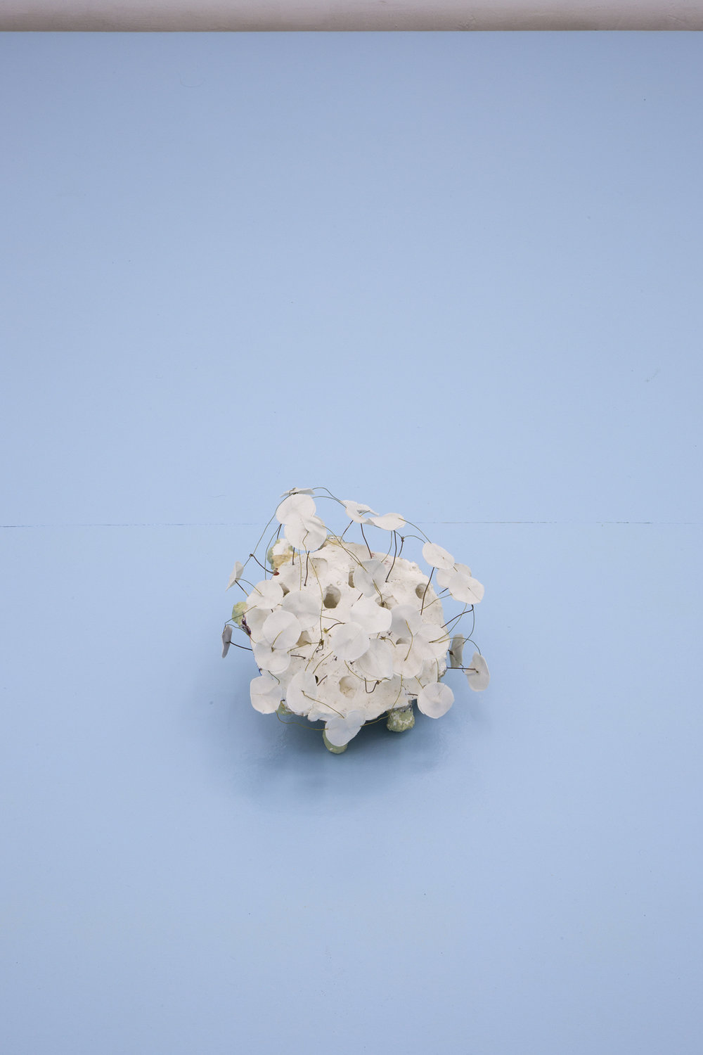 Copy of Miho Dohi, Buttai 24, 2013.  Plaster, copper, cloth and acrylic, h20 x w25 x d25 cm (7.87 x 9.84 x 9.84 in.)