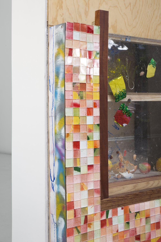 Derya Akay, Fallen fruit (Santa Barbara Market, Vancouver), 2018. Various materials, 100 x 69 x 28cm; 39 x 27.50 x 11 in.