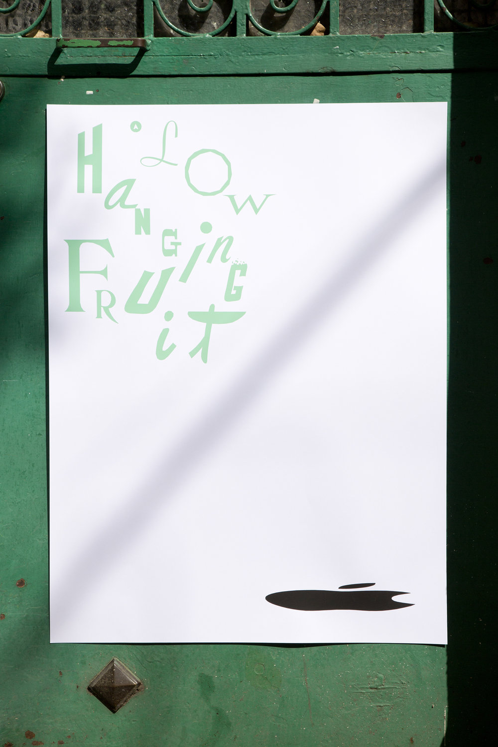 Matthew Brannon, A Low-Hanging Fruit, 2018. Exhibiton poster and cards.