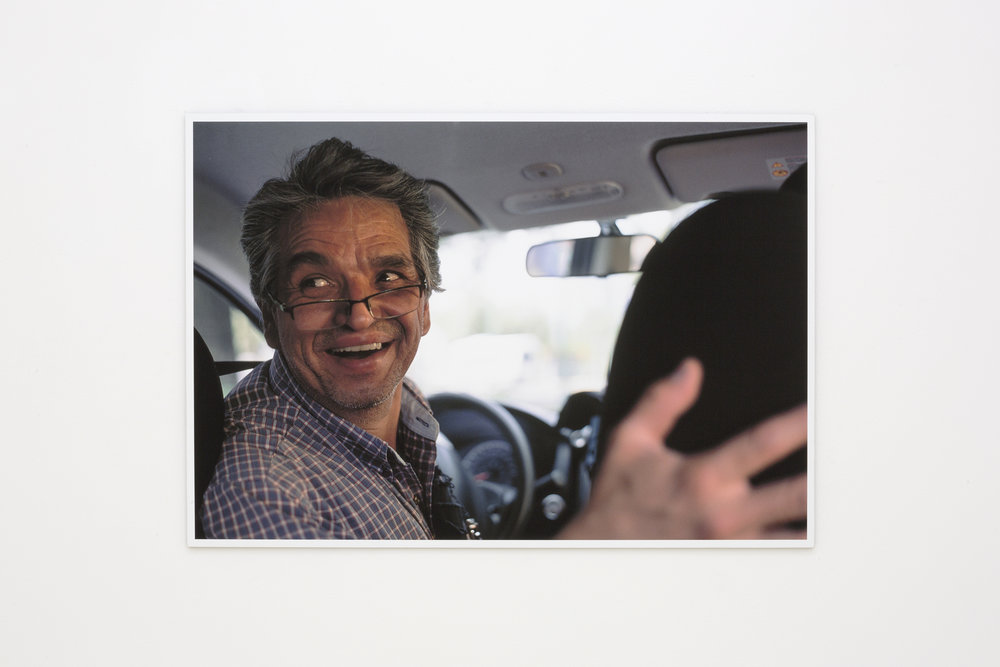 Padraig Timoney Taxidriver UNAM July 2017, 2018. Unique archival pigment print on dibond, 52.75 x 36 cm (20.76 x 14.17in.)