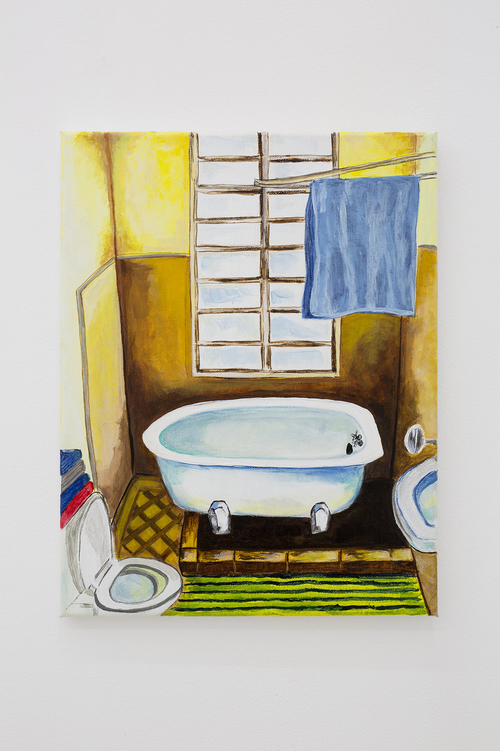 Shana Sharp, Lulu tub, 2018. Acrylic on canvas. 11 x 14 inch (27.94 x 35.56 cm)