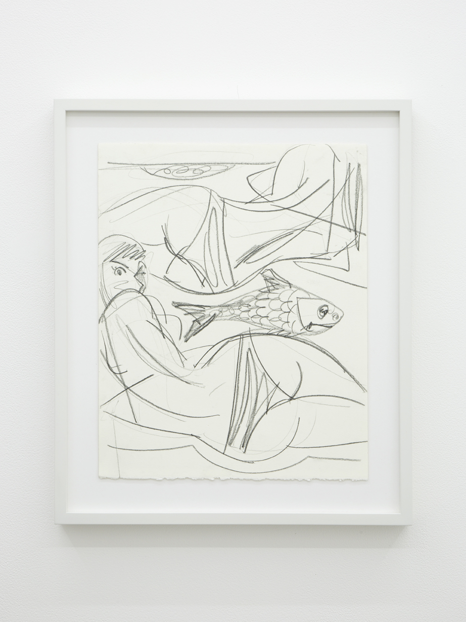 Ella Krugylanskaya, Untitled, 2017. Graphite on paper, 42 x 33 cm; 16.5 x 13 inches.