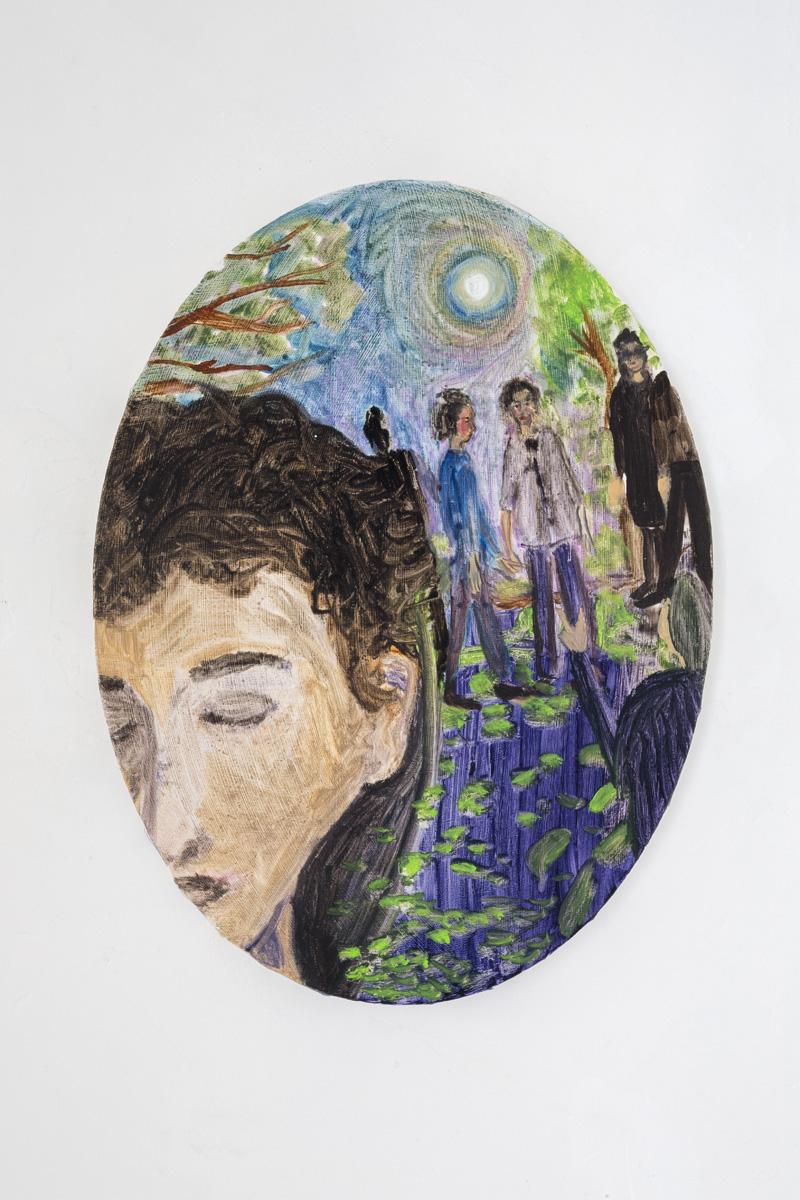 "Lea von Wintzingerode  ""her dream"",  2019. Oil on canvas, 30 x 40 cm (27.5 x 21.8 in)"