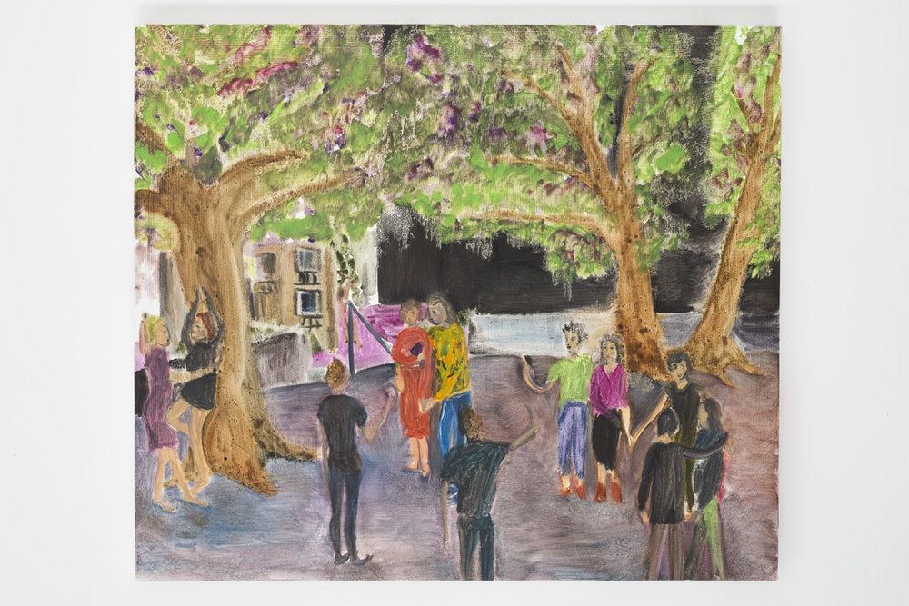"""Lea von Wintzingerode  """"le contrat"""",  2019. Oil on canvas, 48 x 56 cm (18.8 x 22 in)"""