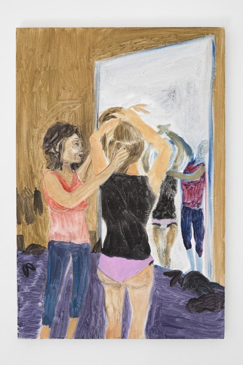 """Lea von Wintzingerode  """"port de bras"""",  2019. Oil on canvas, 75.5 x 50.5 cm (29.7 x 19.8 in)"""