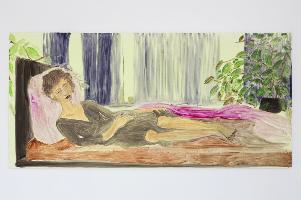 "Lea von Wintzingerode  ""la maja acostada"",  2019. Oil on canvas, 52 x 108.5 cm (20.4 x 42.7 in)"