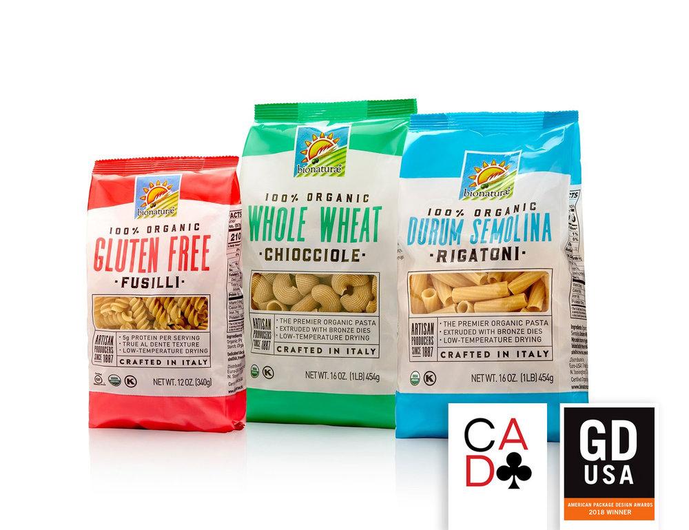 Bionaturae pasta packaging refresh