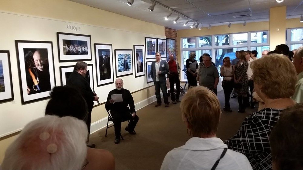 Image from Clique Opening Reception in September 2016 at Riverfront Renaissance Center for the Arts, Millville, NJ.