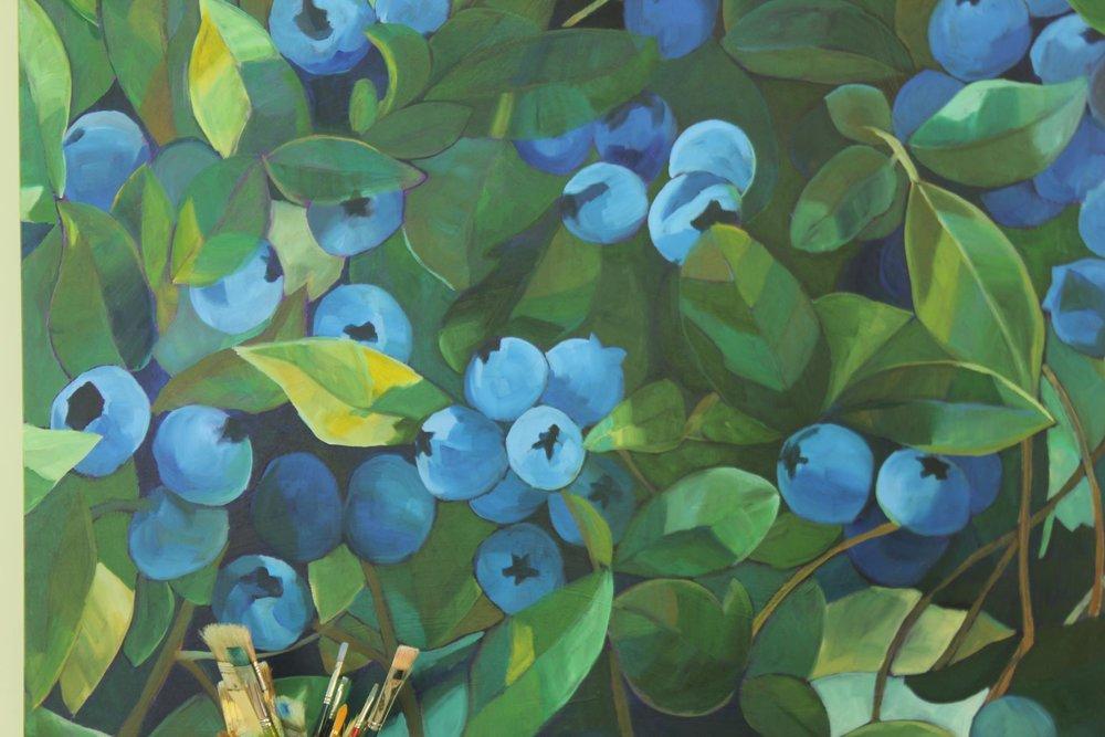 Blueberry Painting (4' x 4') #workinprogress