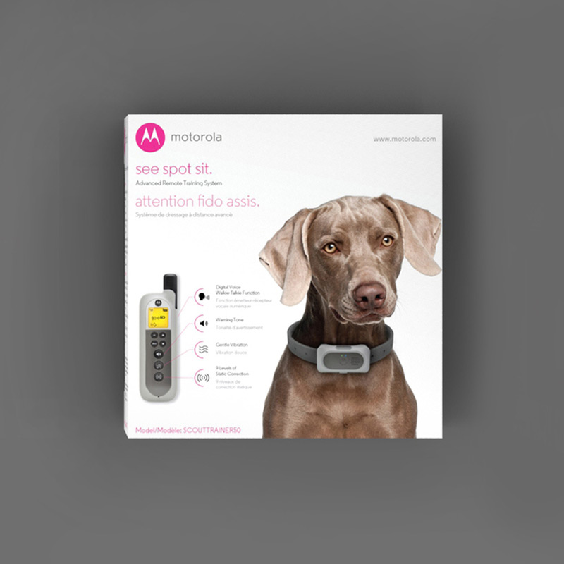 Motorola Pet Training, Package Design