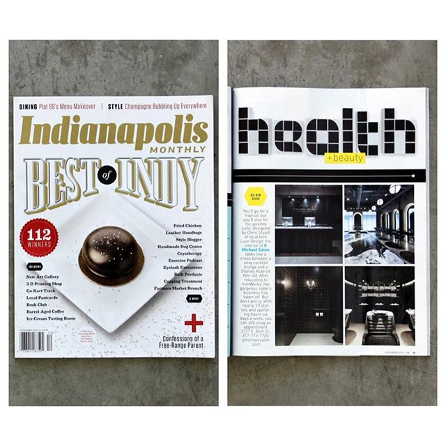 Congrats to @gmichaelsalon for being named #bestofindy in @indymonthly ! 👏👏 so proud we could design the salon for such a stellar team!