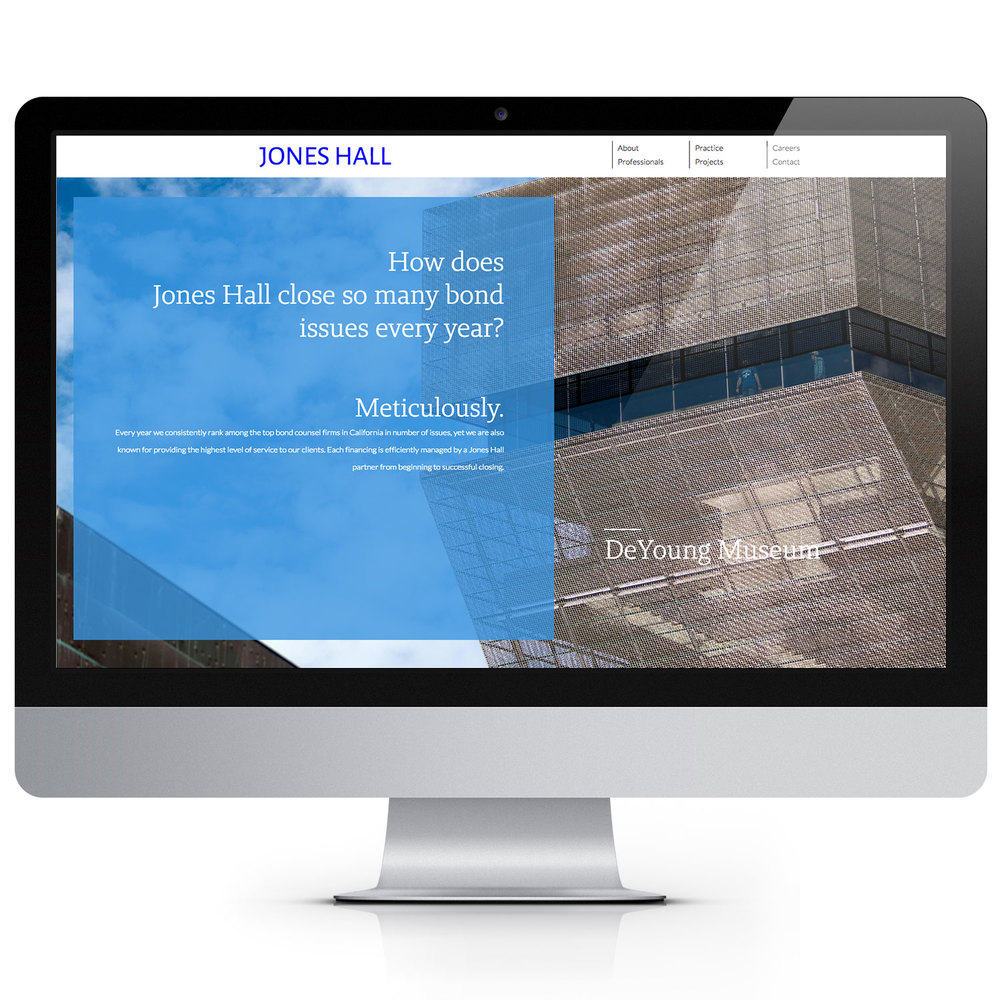 JONES HALL, LLC Brand Development Online Presence Collateral Tools