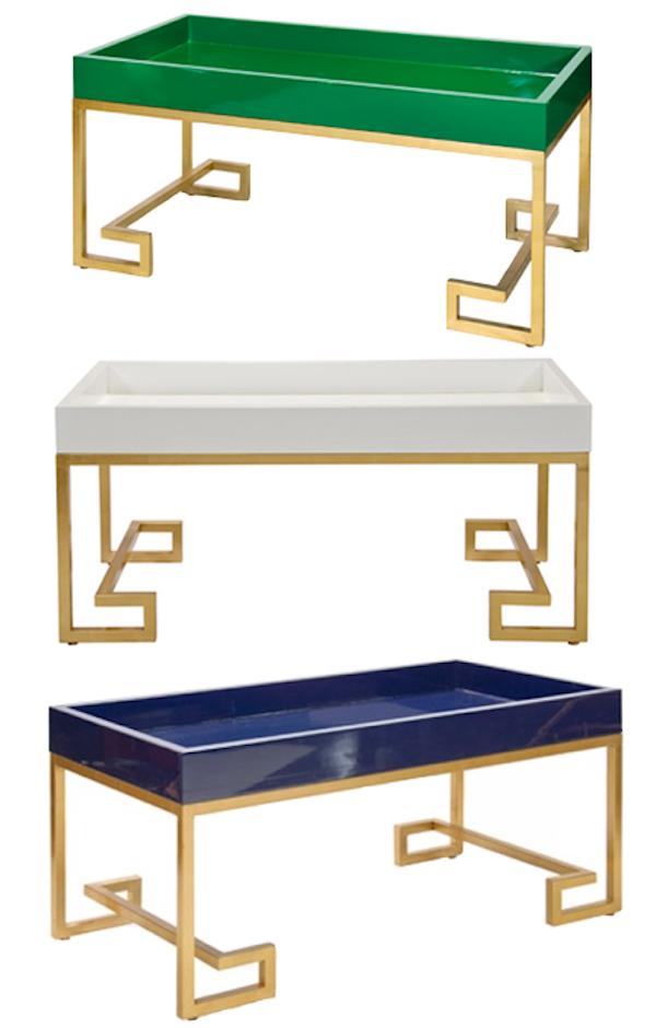 I Spotted These Greek Key Coffee Tables On Her Pinterest While Browsing For One For My Apartment And Fell In Love