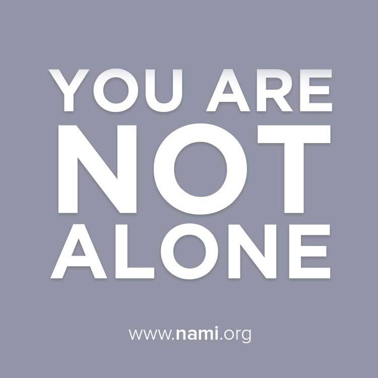 Nami Walworth YOu Are NOt Alone In this fight Image
