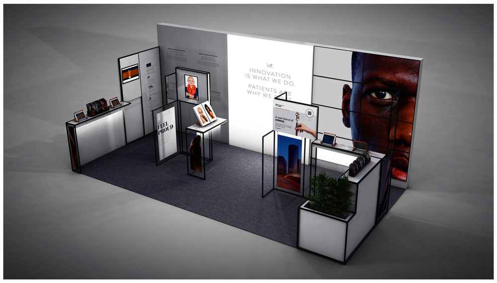 Pharmaceutical Exhibition Stand Design : London based d design agency