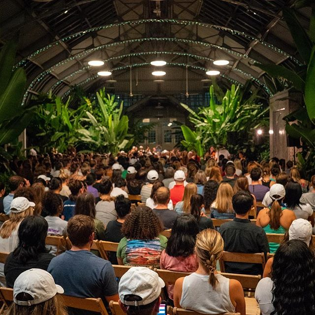 Big Quiet Tour  Chicago  We took over the largest in door conservatory in the country for the first sold out #massmeditation in #Chicago featuring @wowtashawow and @treyalam and #thebigquiet crew.