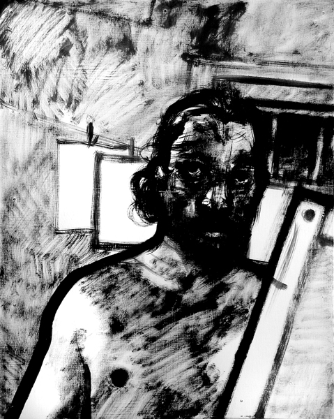 """Autorretrato"" óleo/madera, 50x40 cm"