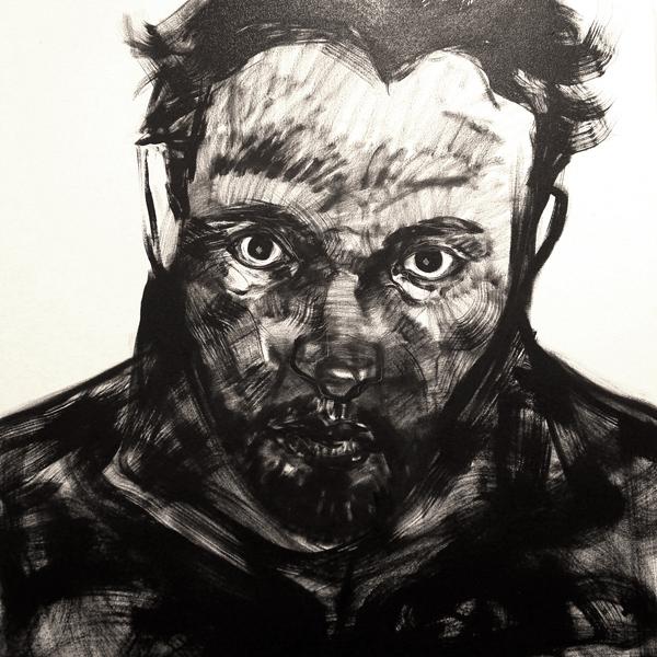 """""""Autorretrato"""" óleo sobre tela 1x1 m, 2007"""