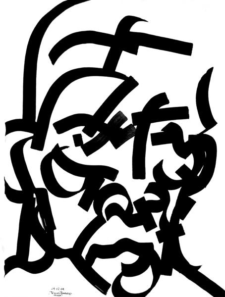 """""""Bushido 4"""" tinta china, 35x25 cm"""