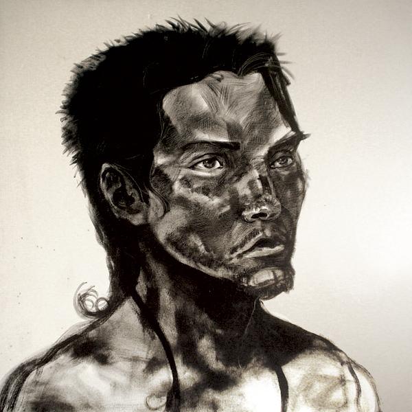 """Uriel Marín"" óleo sobre tela, 1x1 m, 2007"