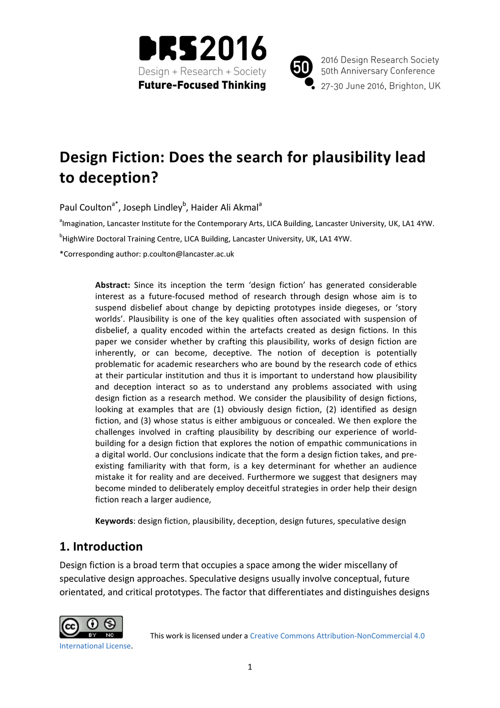 design fiction does the search for plausibility lead to deception