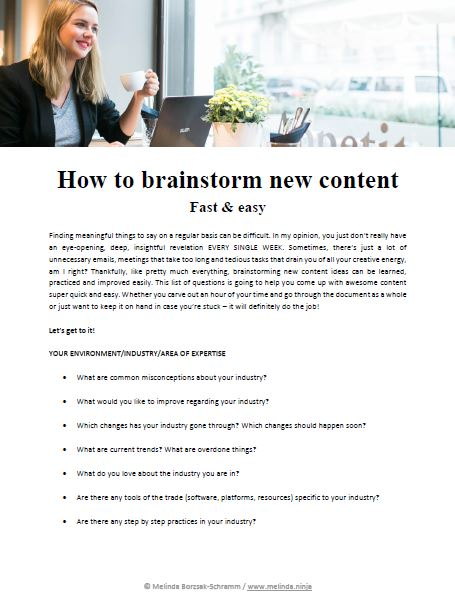 how to brainstorm new content fast & easy preview
