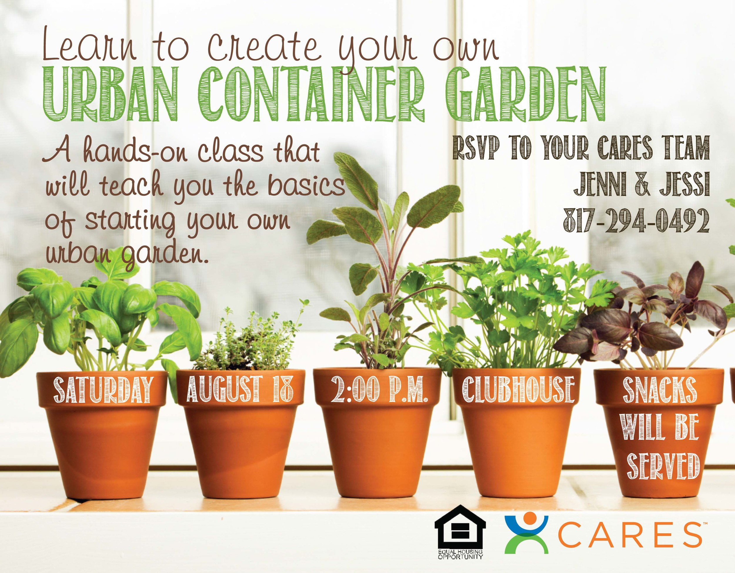 Urban Container Garden Flyer