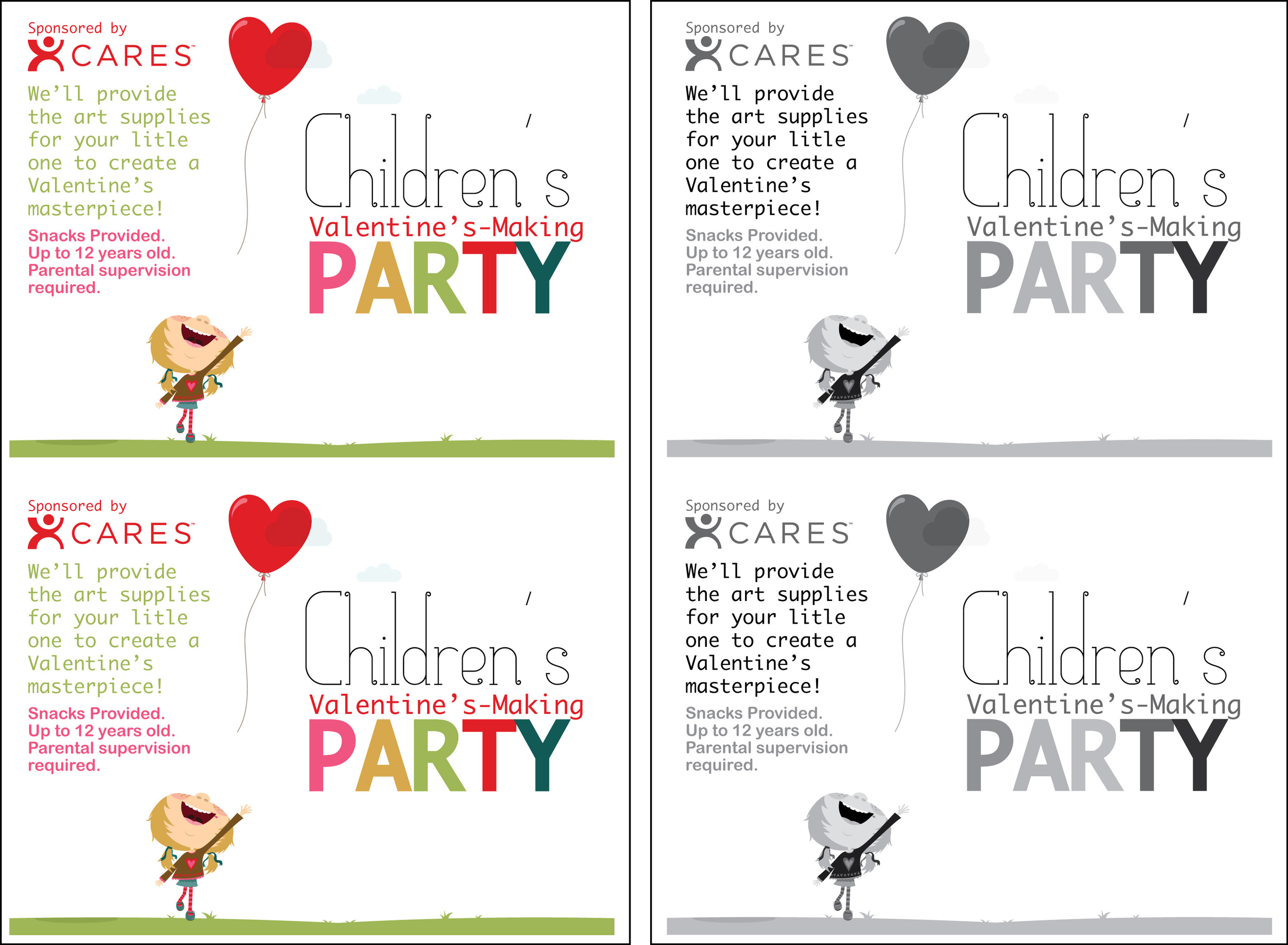 Childrens Valentines Party-doublesheet