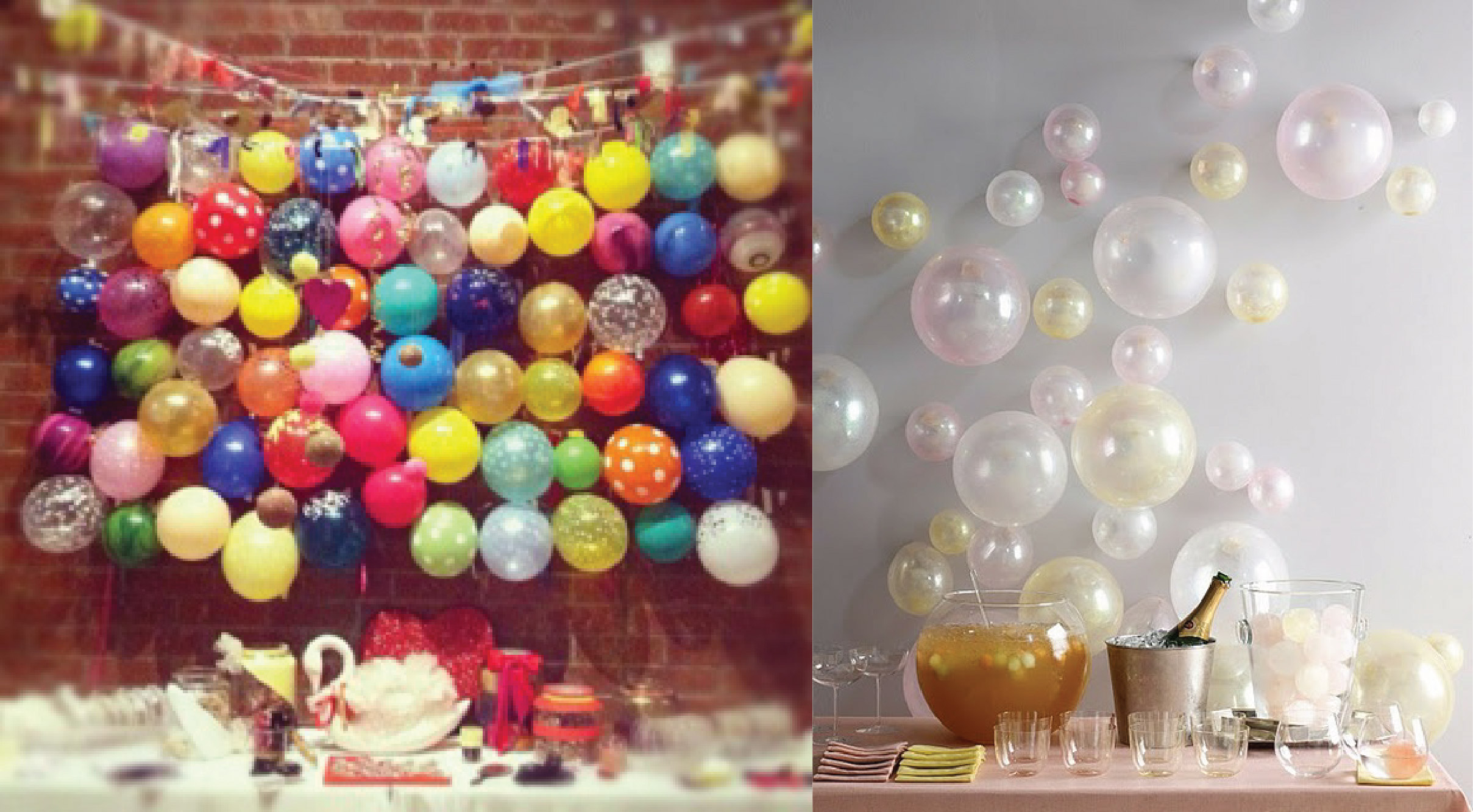 Decorating on a budget 5 ways to use balloons the idea for Balloon decoration on wall