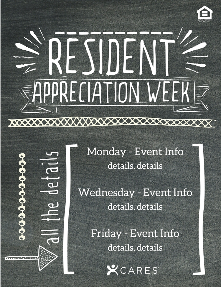 Two Flyer Options Resident Appreciation Week Resident Appreciation Day