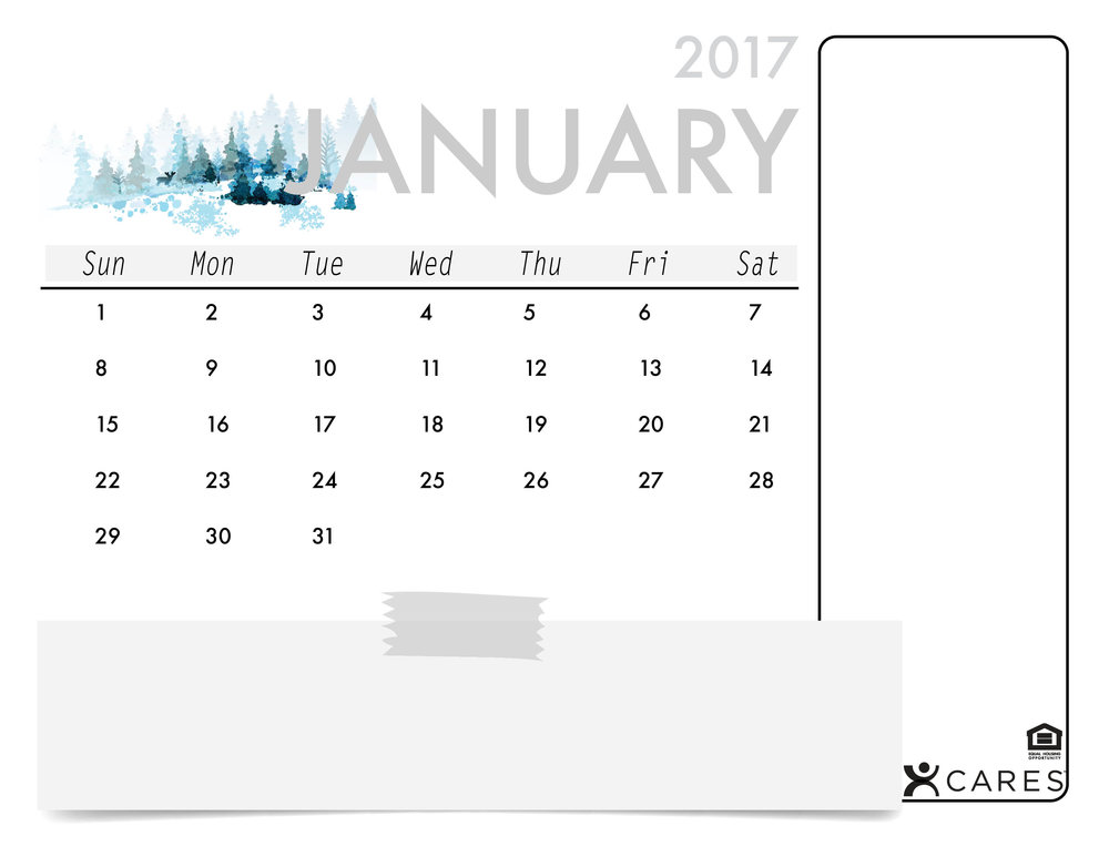 This template is an oldie but a goodie! If you're looking to spread the word about your events on a festive, clean calendar, use this one! Just download an easy-to-use Word Document for each month below.