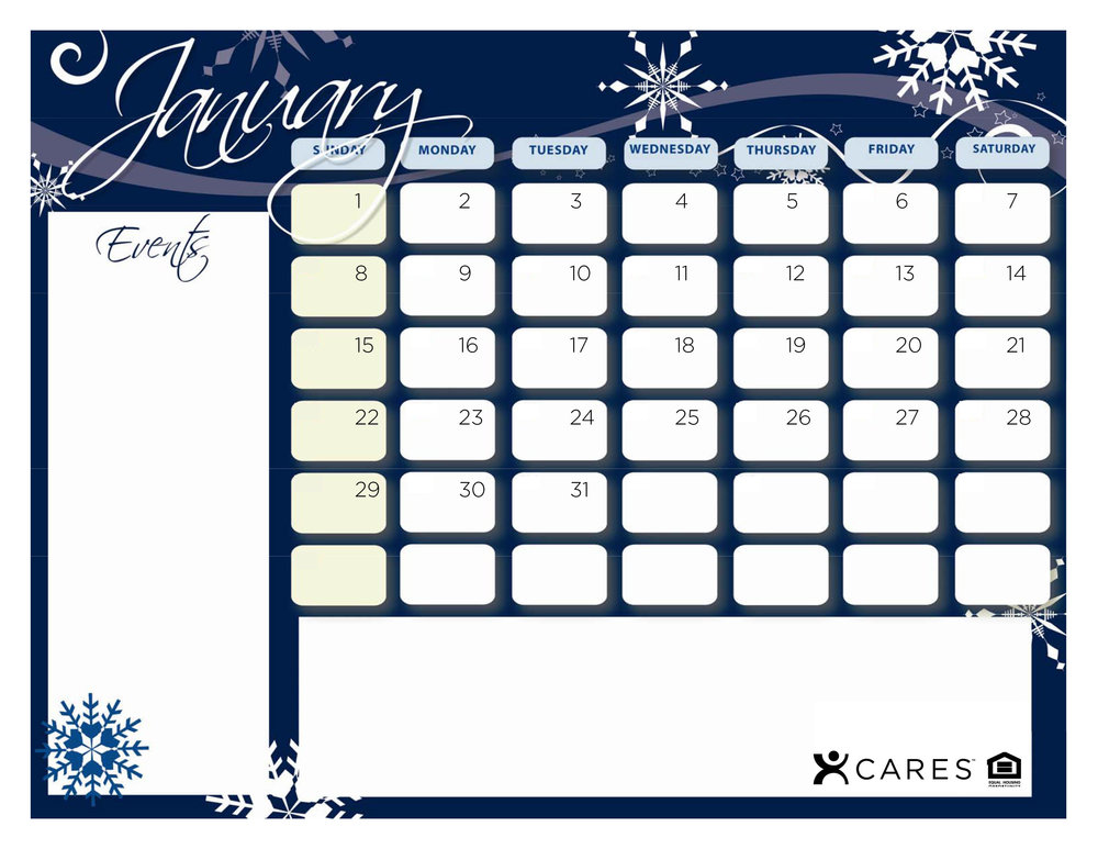 This calendar is all updated and ready for you to use! Simply choose from the selection of months below for an intuitive Word Document template.