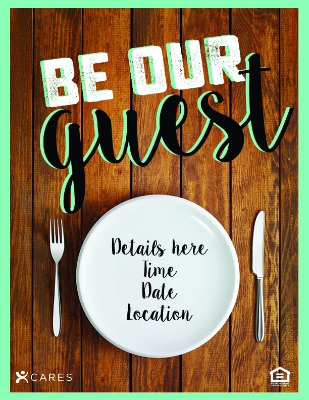 generic dinner party flyer the idea blog