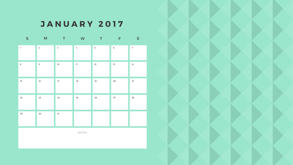 COLORFUL SIMPLE SHAPES MONTHLY CALENDAR -