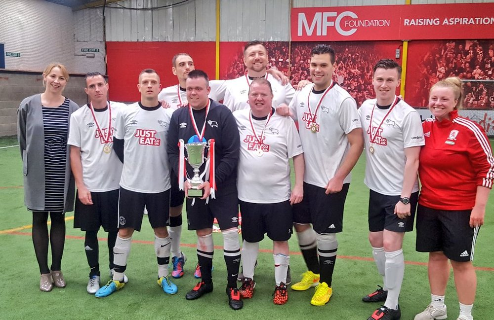 As a Nottingham Forest fan, it pains me to say it, but a huge 'Well Done' to the Active Choices team, part of the Derby County Community Trust, the overall winners of the day.