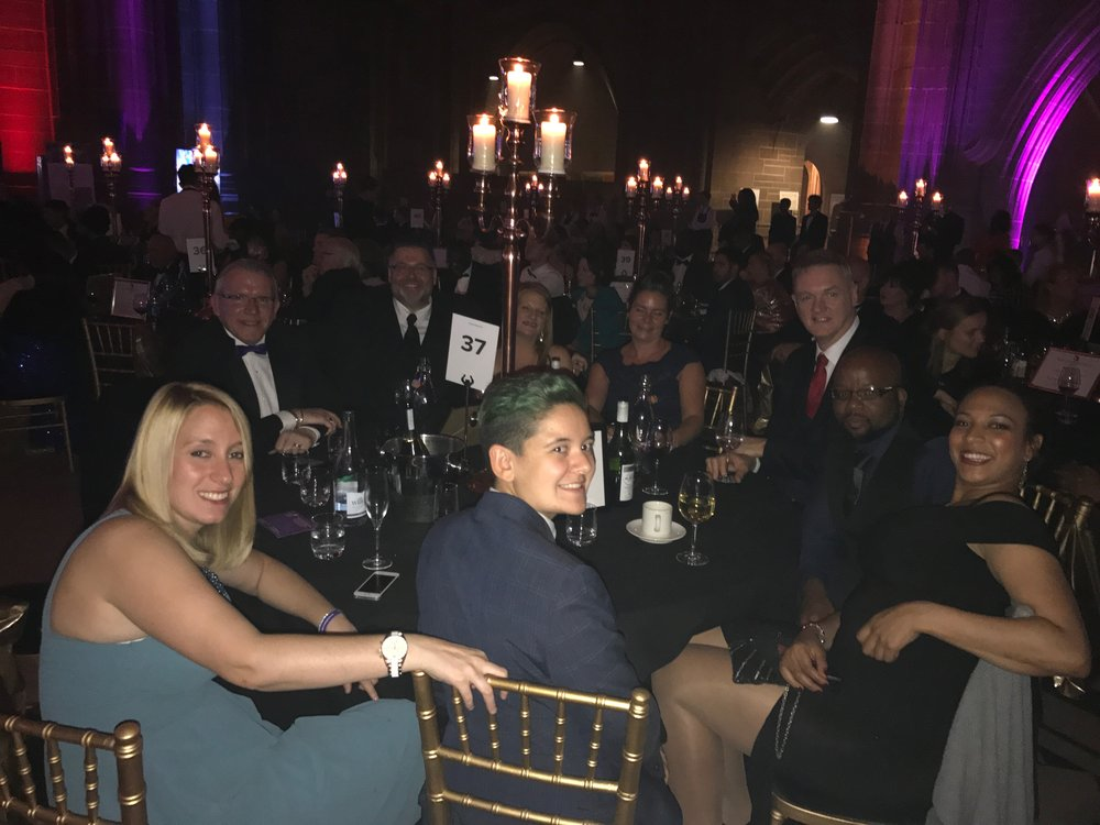 Table 37! An incredible group of people who were all so friendly and supportive of each other. Everyone was up for an award in a different category and were all winners by just being there.