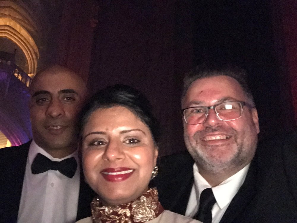 Fellow shortlisters Abid Khan and Henna Rai; Gary and Henna connected on Twitter via the #NDA17 hashtag and hit it off immediately. It was lovely to meet her and Abid in real life and they were both just as nice!