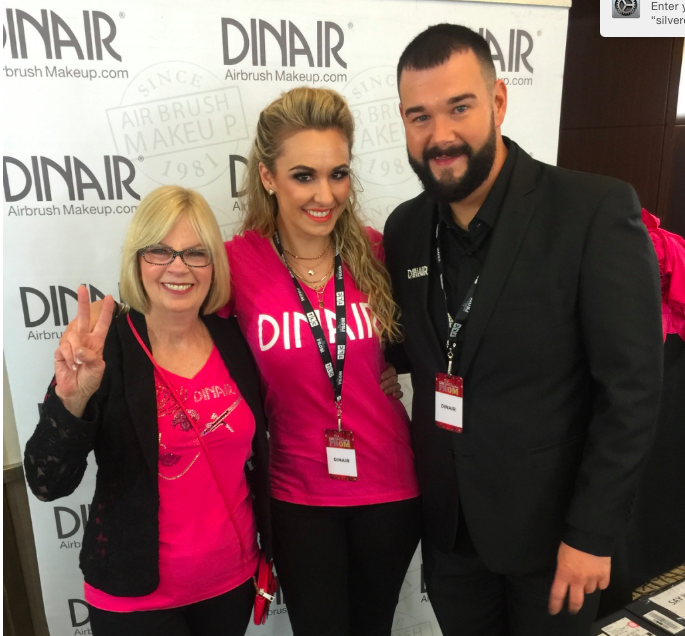 Kelly with founder Dina (left) and Global Creative Director (right)