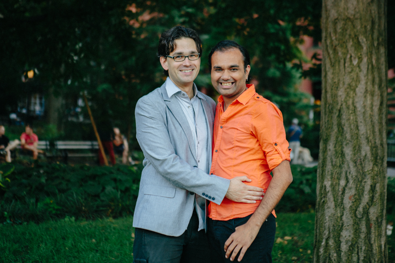 gay engagement photos NYC 2
