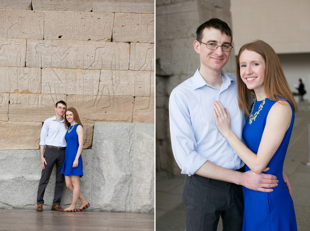 temple of dendur engagement photos
