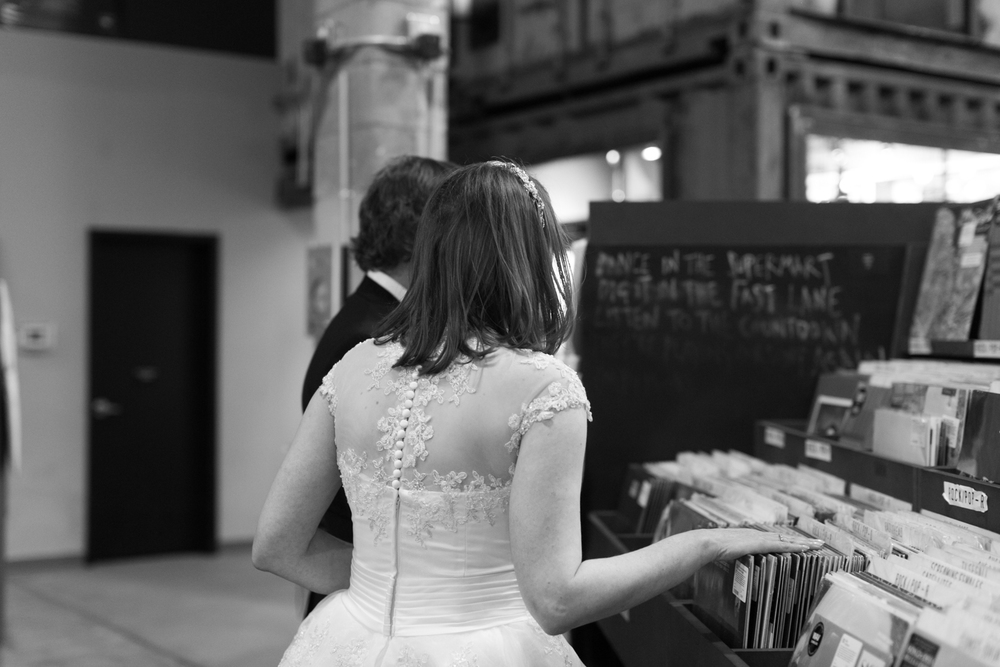 record store wedding