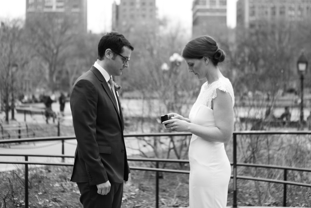 wedding in washington square park