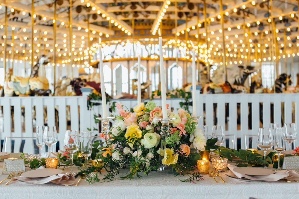 new haven lighthouse point carousel wedding