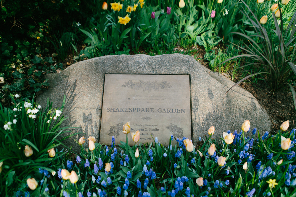 shakespeare garden central park