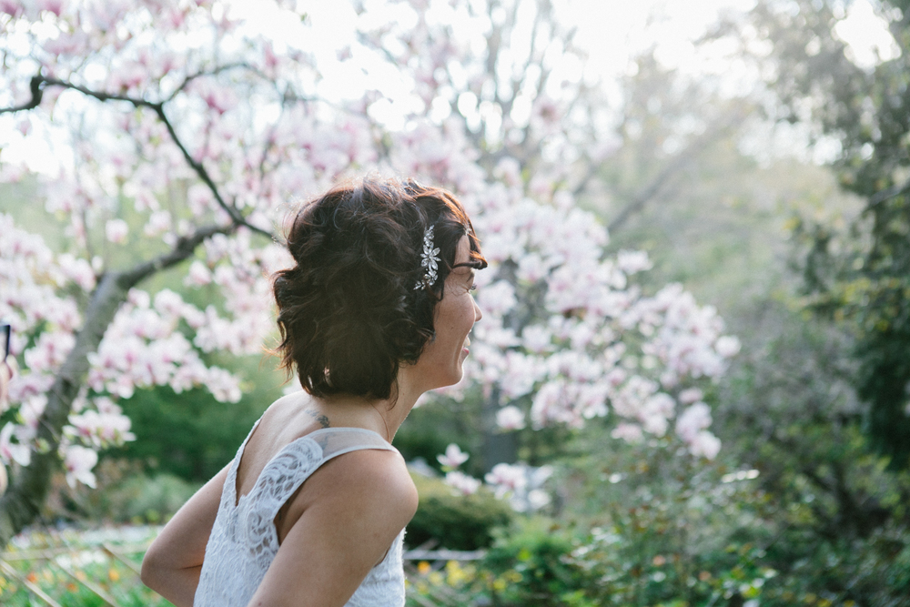 bride hairstyle elopement
