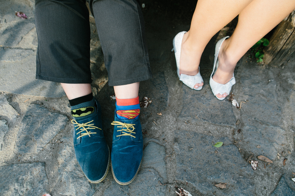 super hero wedding socks
