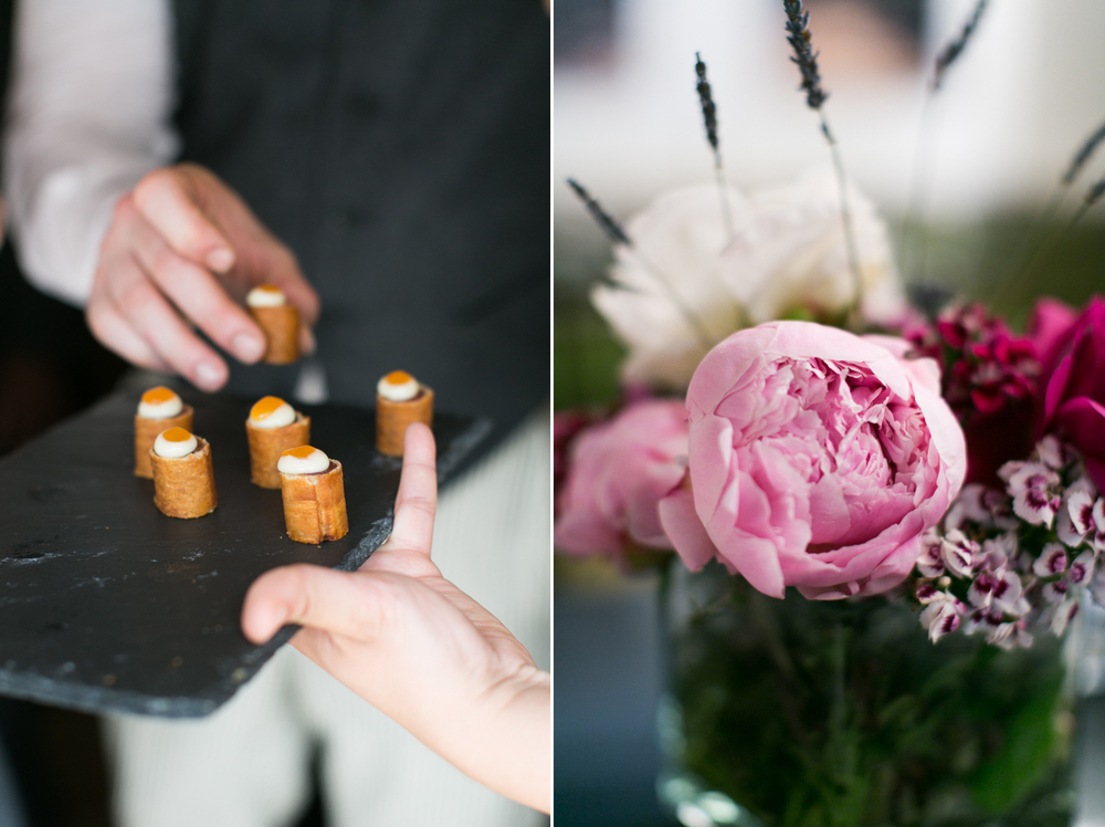 amuse bouche & flowers