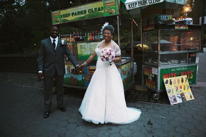 central park wedding photos