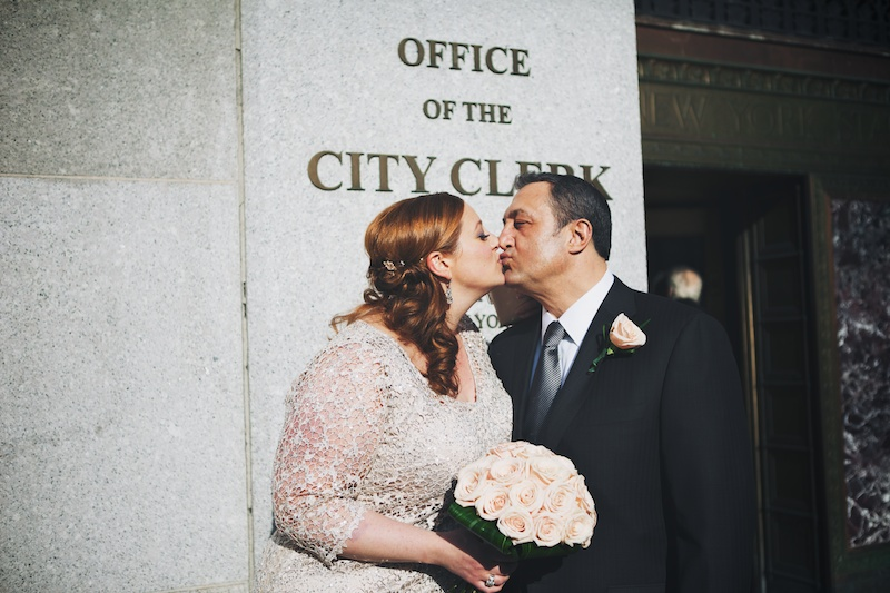 city hall wedding photos manhattan